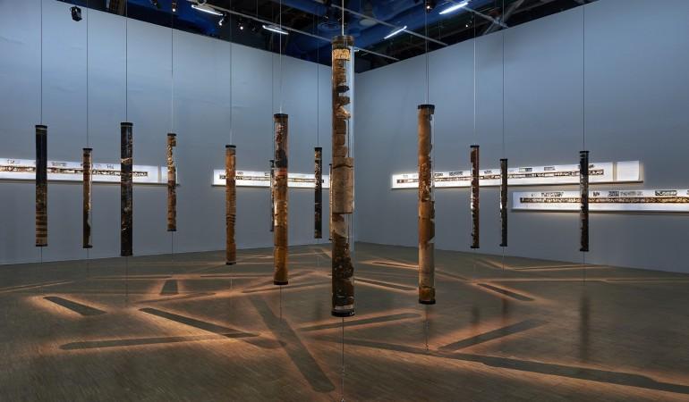 exhibition view of Unconformities at Centre Pompidou
